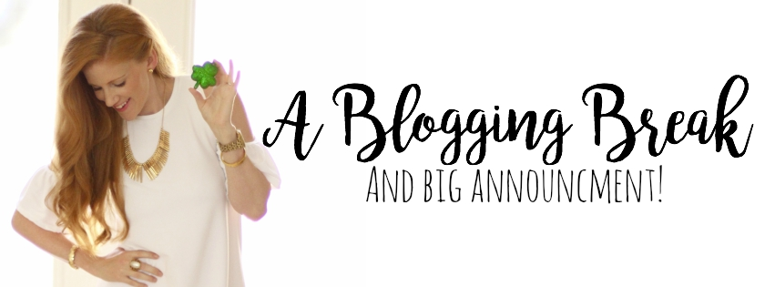I Took a Blogging Break & I'm Back with a Big Announcement!